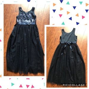 Cat & Jack Full Length Navy Party Dress